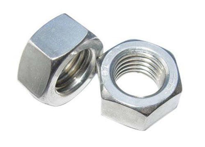 Customize Carbon Steel Hex Head Nuts , Hexagon Coupling Nuts DIN Standard
