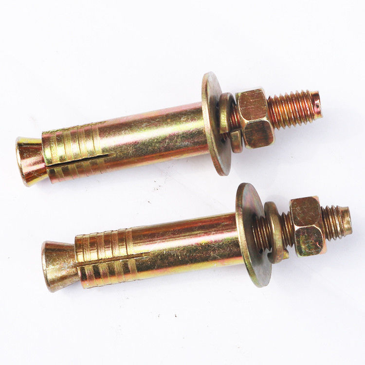 Yellow Zinc Plated Expansion Anchor Bolt / Concrete Fasteners